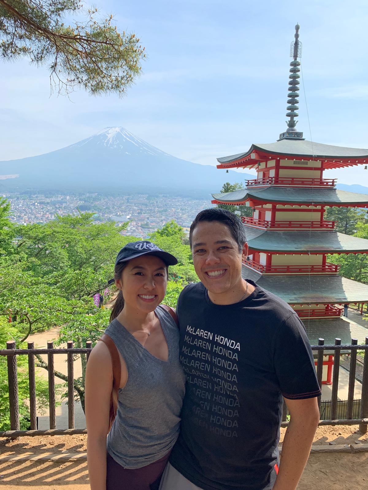Selfie infront of pagoda