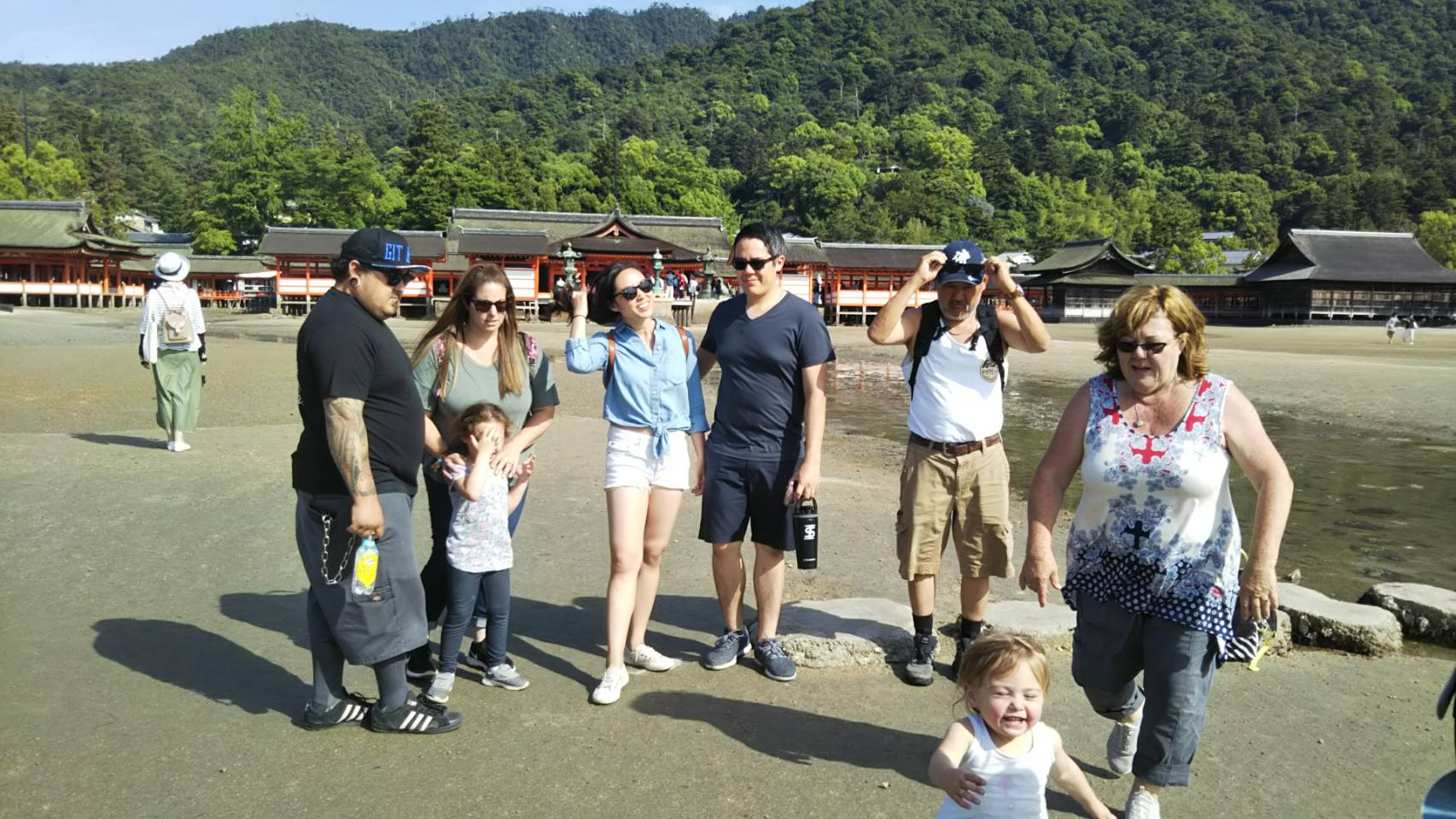 group of people in miyajima