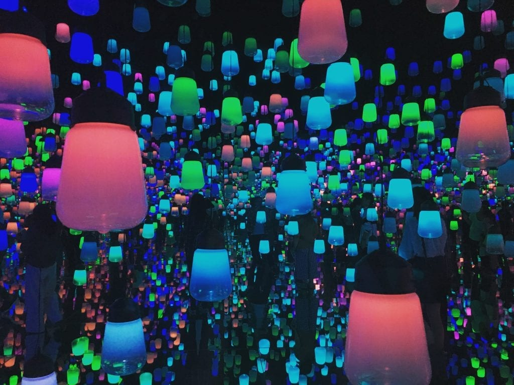 Colorful lanterns at TeamLab Borderless.