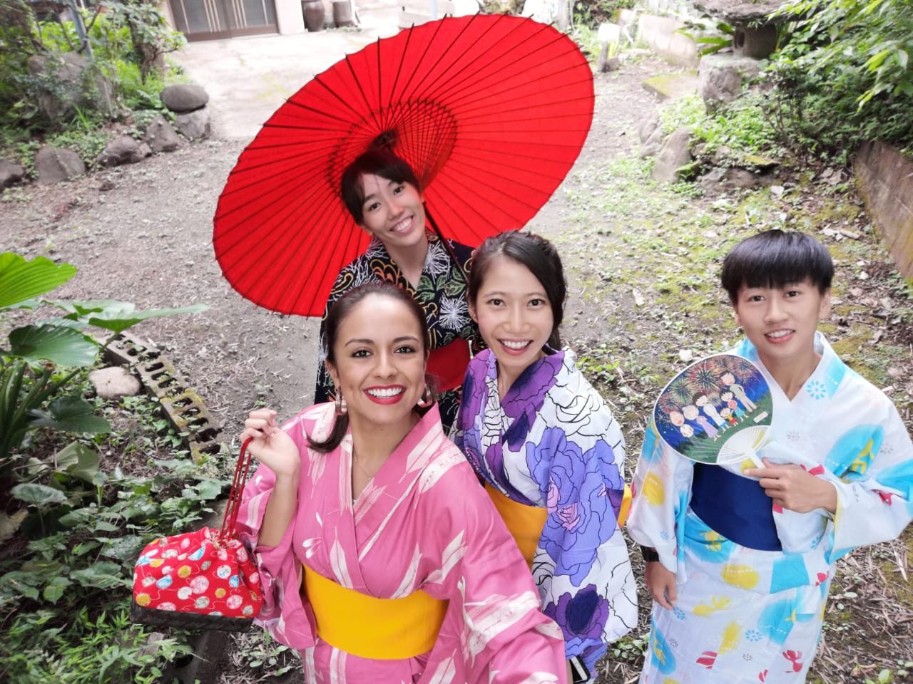 Group wearing yukata.