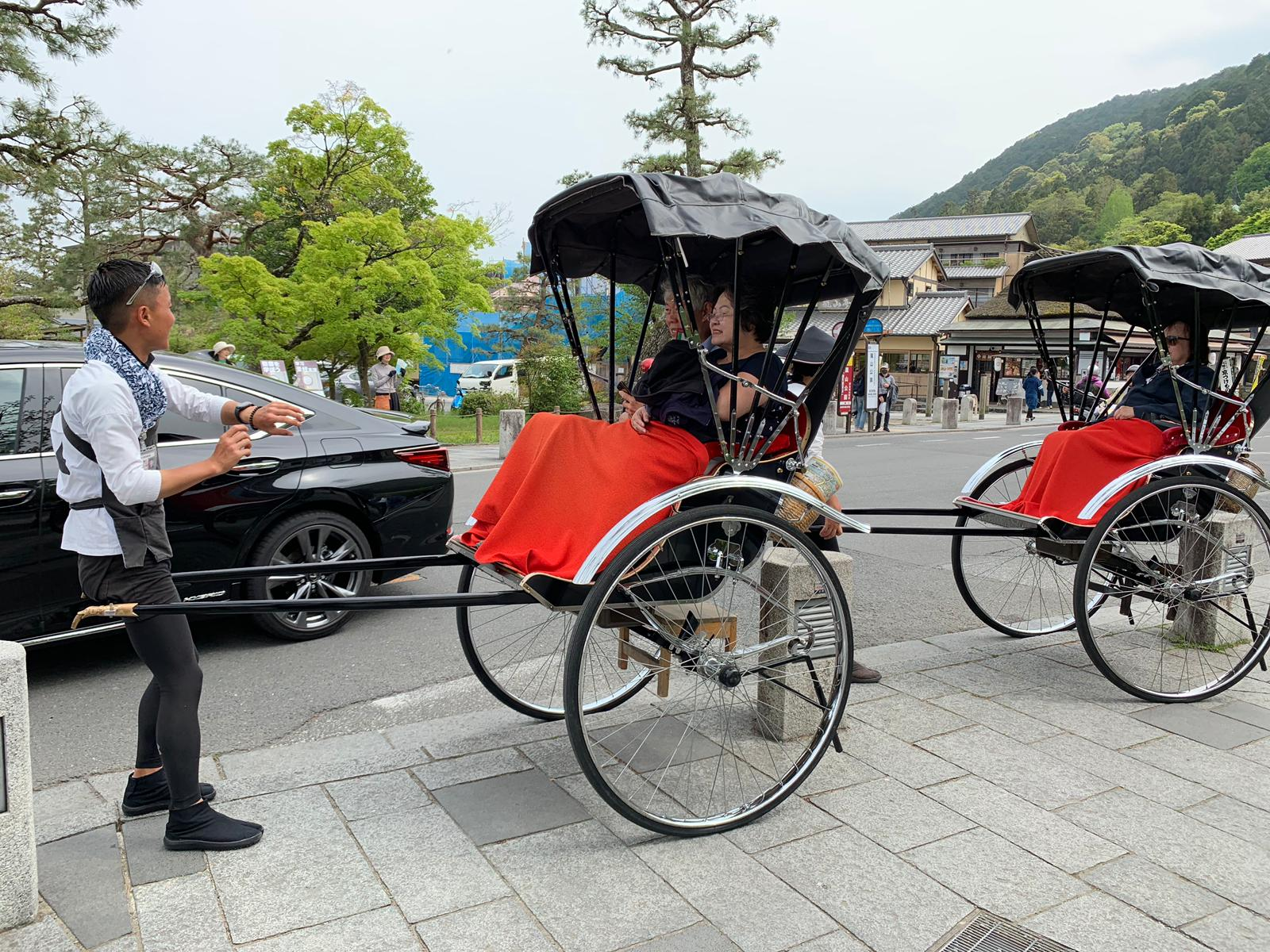 Japanese rickshaws.