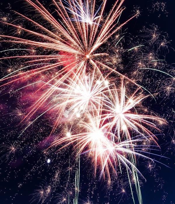 Fireworks during Atsuta festival.