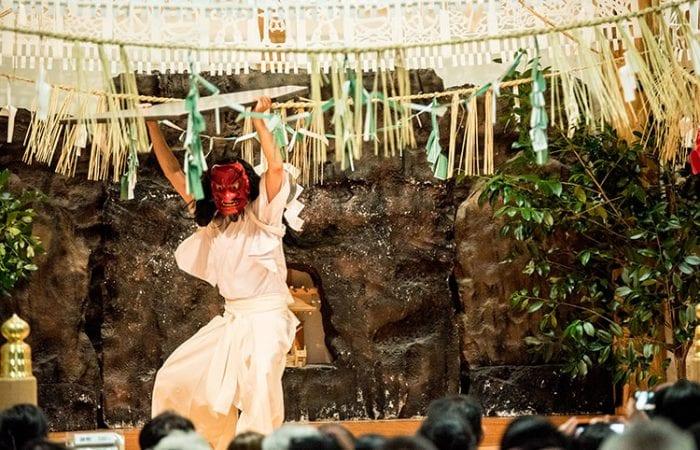 Japanese Yokagura performance