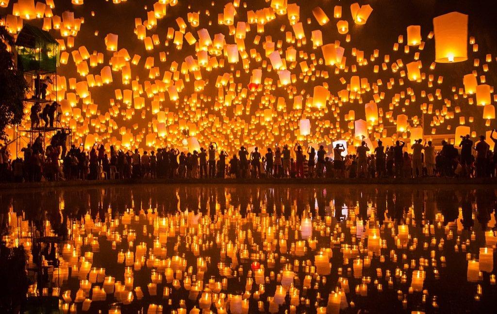 Lantern festival in Tsunan, Japan